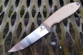 Midland Hunter in RWL34 and ivory linen micarta
