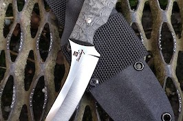 Capreolus gralloching knife in Niolox steel.