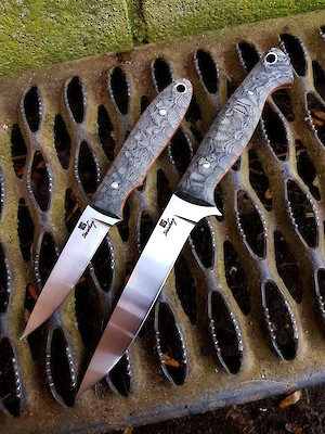 bush craft knife custom knives stalker s duo 1187
